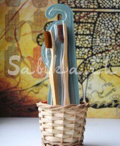 Зубная щетка с щетинкой и ручкой из бамбука (Средняя)