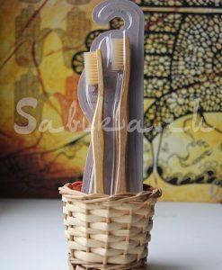 Зубная щетка с щетинкой и ручкой из бамбука - (Мягкая)